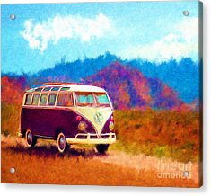 Vw Van Classic Acrylic Print by Marilyn Sholin