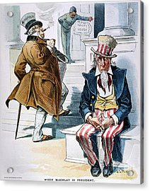 W. Mckinley Cartoon, 1896 Acrylic Print by Granger