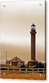 Wacky Weather At Point Arena Lighthouse - California Acrylic Print by Christine Till