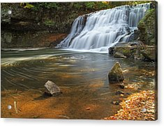 Wadsworth Falls Acrylic Print by David Freuthal