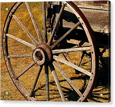 Wagon Wheel Acrylic Print by Perry Webster