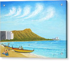 Waikiki Wonder Acrylic Print by Jerome Stumphauzer