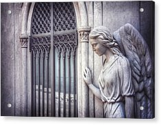 Waiting Angel In Prazeres Lisbon Acrylic Print by Carol Japp