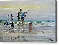 Waiting For A Feed Acrylic Print by Diko