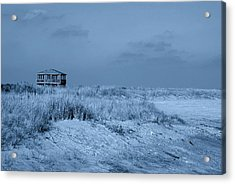 Waiting For Summer - Jersey Shore Acrylic Print by Angie Tirado