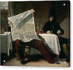 Waiting For The Times Acrylic Print by Benjamin Robert Haydon