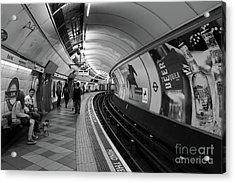 Waiting For Train Acrylic Print by Svetlana Sewell