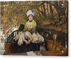 Waiting Acrylic Print by James Jacques Joseph Tissot
