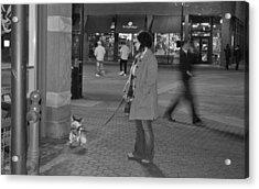 Waiting On The Dog Acrylic Print by Luke Cain