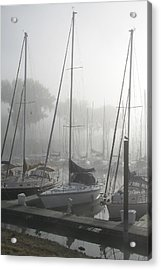 Waiting On The Fog Acrylic Print by Laurie With
