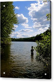 Walden Pond  Acrylic Print by Rae Breaux