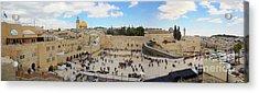 Haram Al Sharif / Temple Mount Panorama - Israel / Palestine Acrylic Print by Wietse Michiels