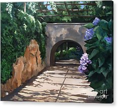 Walk With Me Acrylic Print by Suzanne Schaefer