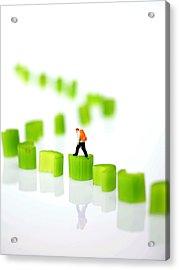 Walking On Celery  Acrylic Print by Paul Ge