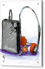Walkman Acrylic Print by Russell Pierce
