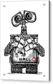 Wall-e Acrylic Print by James Sayer