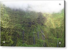 Wall Of Tears At Molokai Island Acrylic Print by Stacia Blase