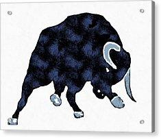 Wall Street Bull Market Series 1 Acrylic Print by Edward Fielding