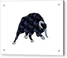 Wall Street Bull Market Series 1 T-shirt Acrylic Print by Edward Fielding