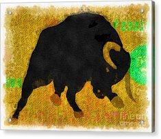 Wall Street Bull Market Series 2 Acrylic Print by Edward Fielding