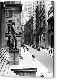 Wall Street Is Virtually Deserted Acrylic Print by Everett