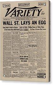 Wall Street Lays An Egg. Famous Acrylic Print by Everett