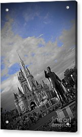Walt Disney World - Partners Statue Acrylic Print by AK Photography