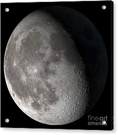 Waning Gibbous Moon Acrylic Print by Stocktrek Images