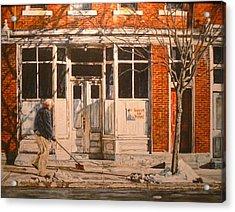 War At Home Acrylic Print by Thomas Akers