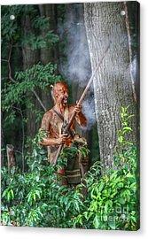 War Cry Indian Warrior Acrylic Print by Randy Steele