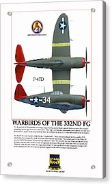 Warbirds Of The 332nd Fg Acrylic Print by Jerry Taliaferro