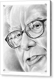 Warren Buffett Acrylic Print by Greg Joens
