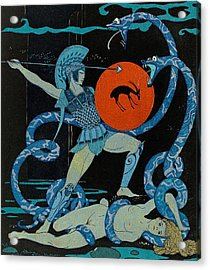 Warrior Acrylic Print by Georges Barbier