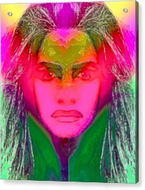 Warrior Goddess IIII Acrylic Print by Devalyn Marshall