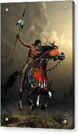 Warriors Of The Plains Acrylic Print by Daniel Eskridge