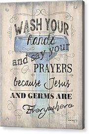 Wash Your Hands Acrylic Print by Debbie DeWitt
