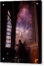 Washed In Rose Glass Acrylic Print by Edan Chapman