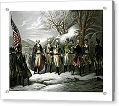 Washington And His Generals  Acrylic Print by War Is Hell Store