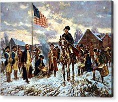 Washington At Valley Forge Acrylic Print by War Is Hell Store