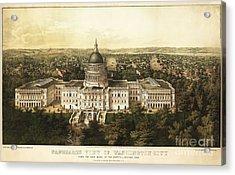 Washington City 1857 Acrylic Print by Jon Neidert