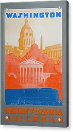 Washington Dc V Acrylic Print by David Studwell