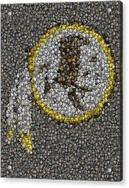 Washington Redskins Coins Mosaic Acrylic Print by Paul Van Scott