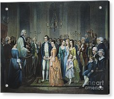 Washingtons Marriage Acrylic Print by Granger