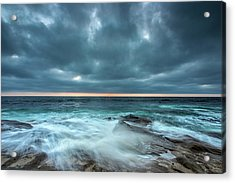 Washover Acrylic Print by Peter Tellone