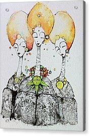 Watchers Acrylic Print by Mark M  Mellon