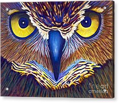 Watching Acrylic Print by Brian  Commerford