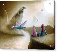 Watching Dragons Acrylic Print by Rui Barros