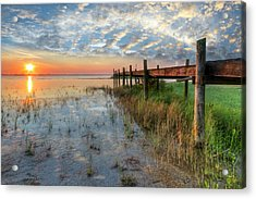 Watching The Sun Rise Acrylic Print by Debra and Dave Vanderlaan