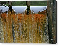 Water Fall At Grismill Pond Acrylic Print by Danny Jones