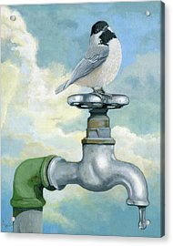 Water Is Life - Realistic Painting Acrylic Print by Linda Apple